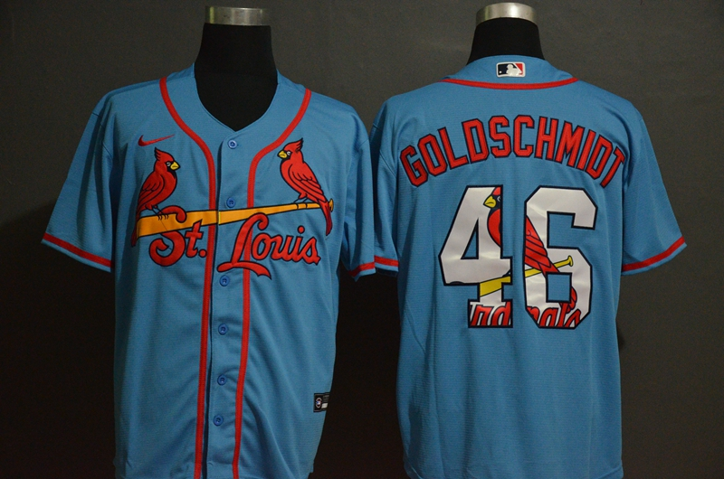 2020 Men St.Louis Cardinals 46 Goloschmiot Blue Nike Game MLB Jerseys