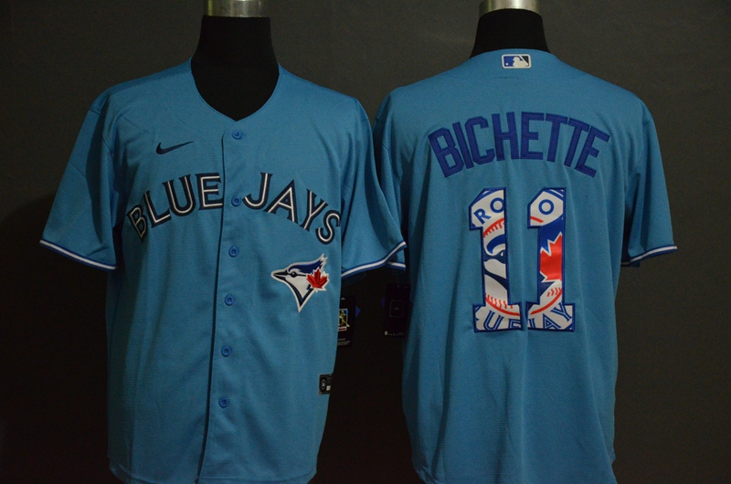 2020 Men Toronto Blue Jays 11 Bichette Blue Nike Game MLB Jerseys