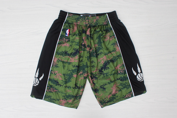 2020 Men Toronto Raptors camo NBA shorts