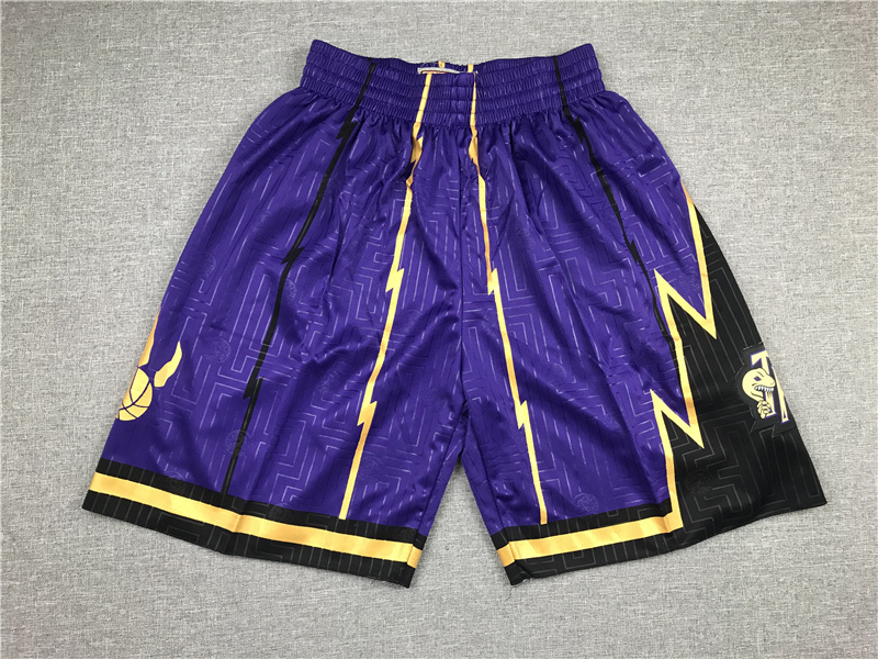 2020 Men Toronto Raptors purple NBA shorts