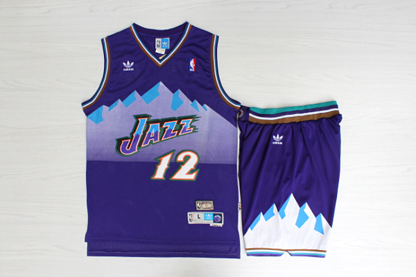 2020 Men Utah Jazz 12 Stockton Purple suits NBA Jerseys