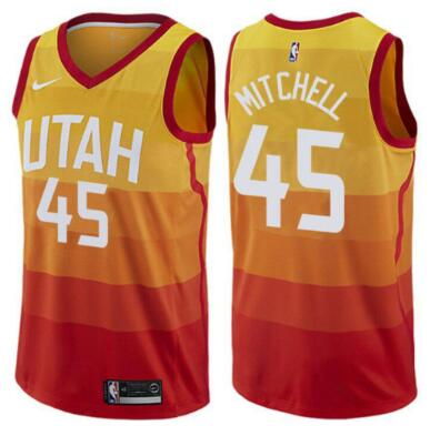 2020 Men Utah Jazz 45 Mitchell yellow Game Nike NBA Jerseys