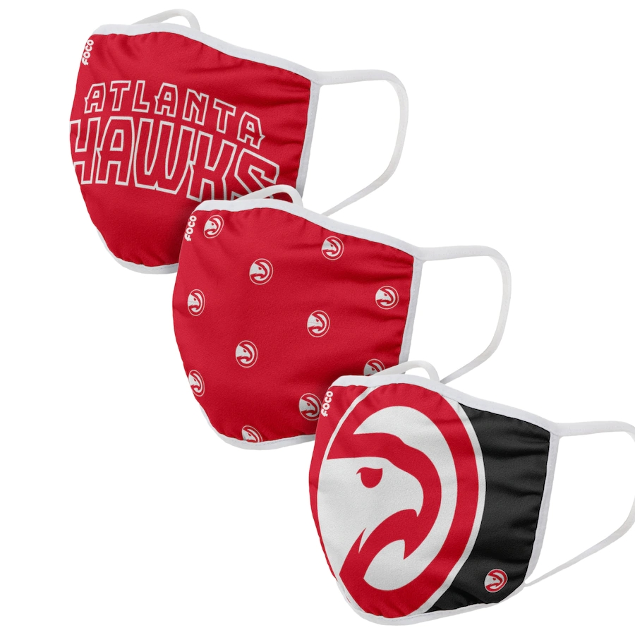 Adult Atlanta Hawks 3Pack Dust mask with filter