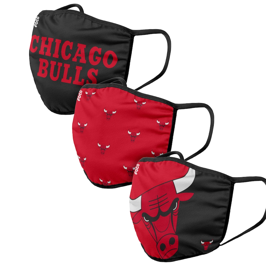 Adult Chicago Bulls 3Pack Dust mask with filter