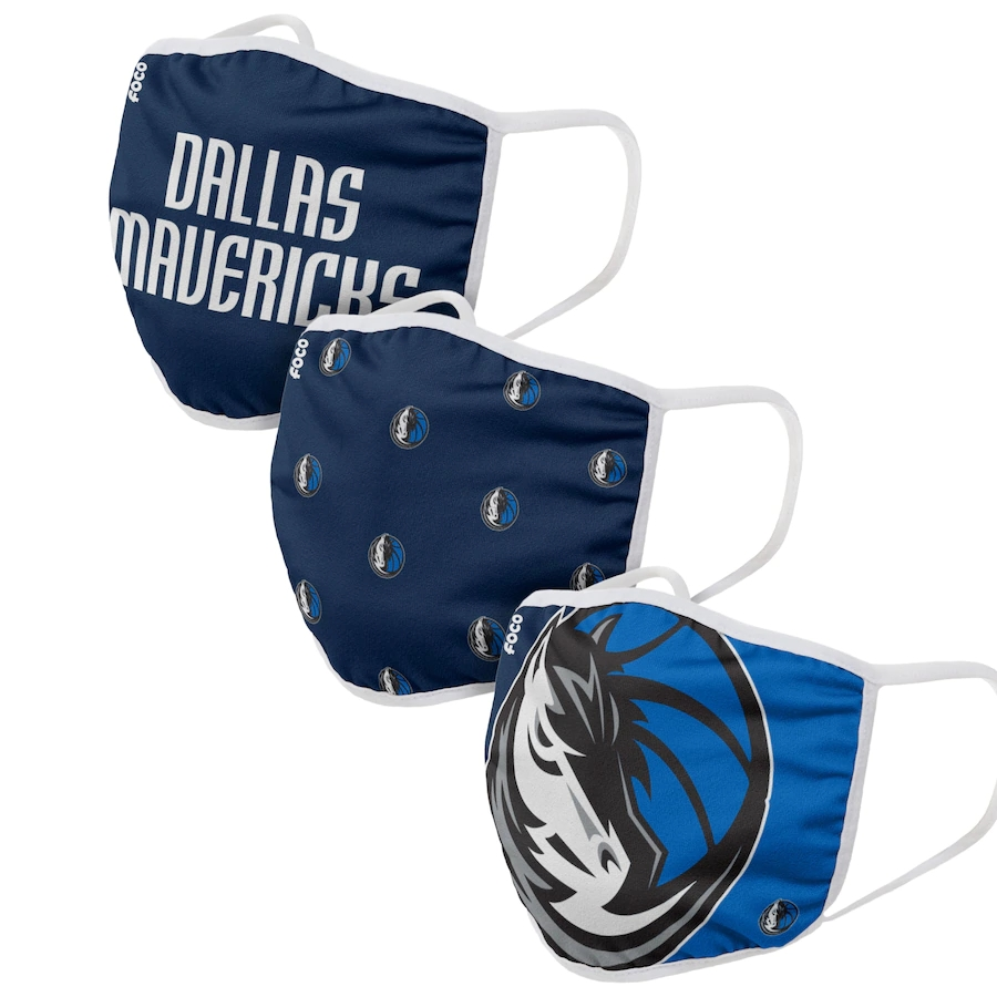 Adult Dallas Mavericks 3Pack Dust mask with filter