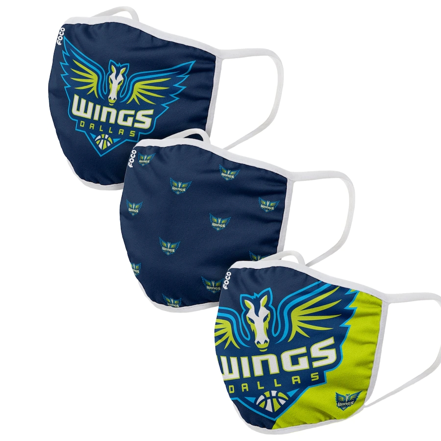 Adult Dallas Wings 3Pack Dust mask with filter