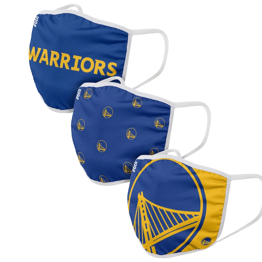 Adult Golden State Warriors 3Pack Dust mask with filter