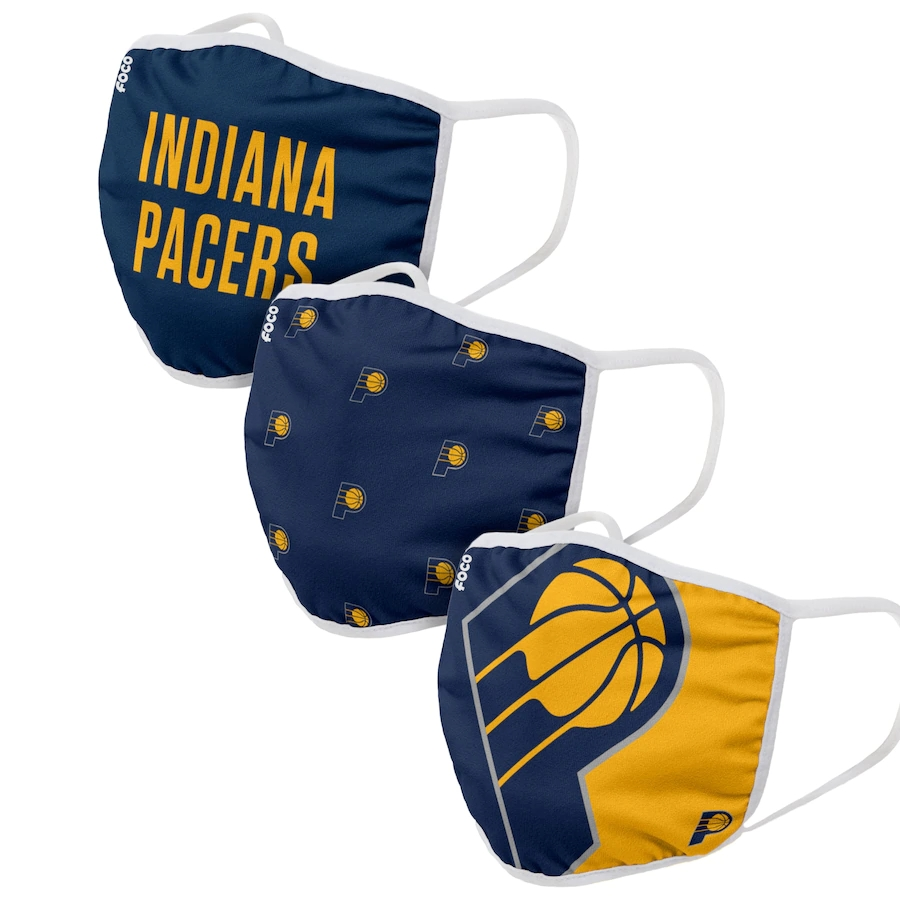 Adult Indiana Pacers 3Pack Dust mask with filter