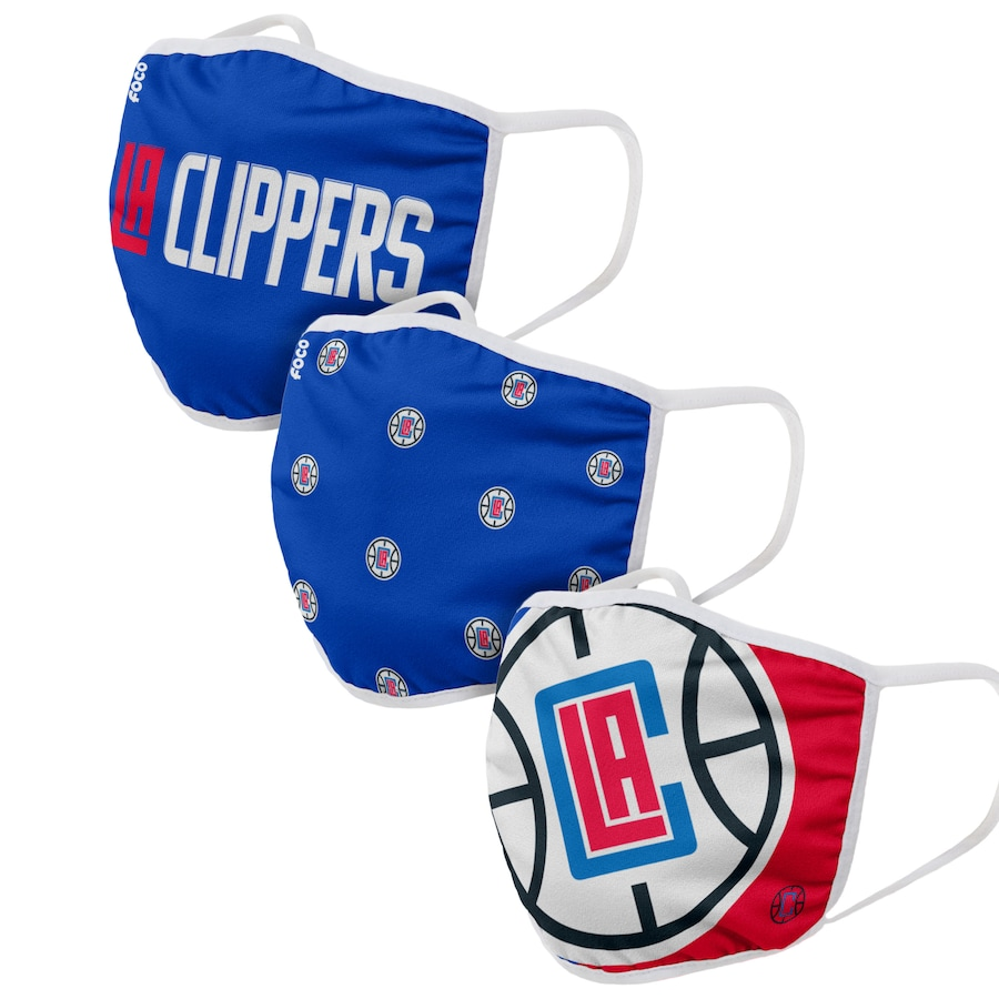 Adult LA Clippers 3Pack Dust mask with filter