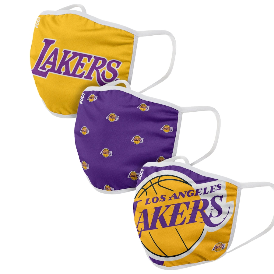 Adult Los Angeles Lakers 3Pack Dust mask with filter