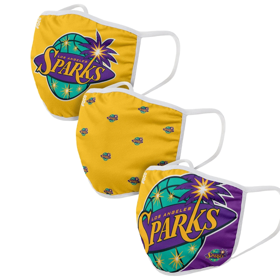 Adult Los Angeles Sparks 3Pack Dust mask with filter