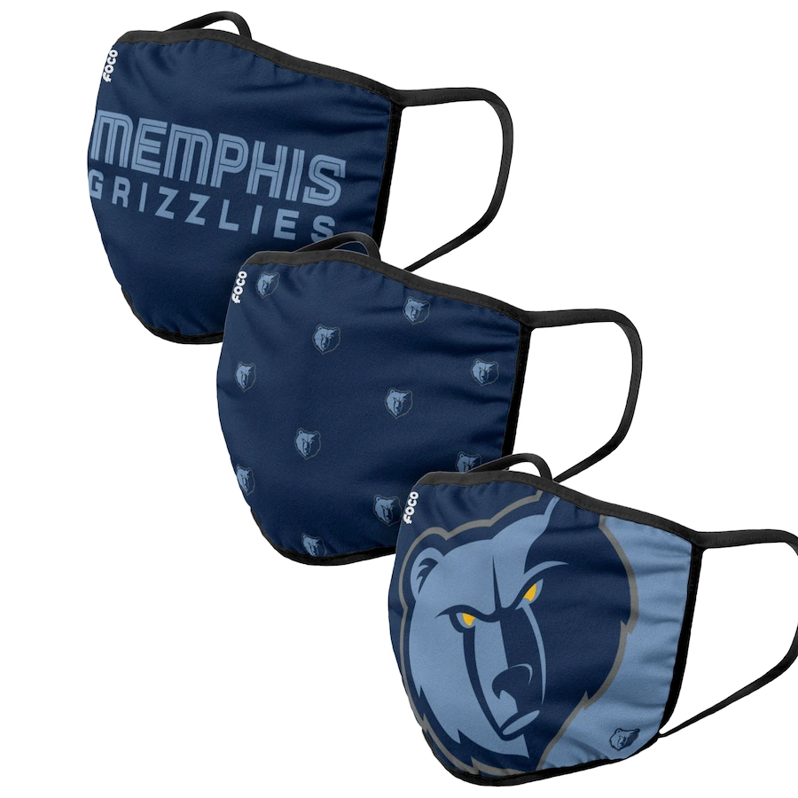 Adult Memphis Grizzlies 3Pack Dust mask with filter