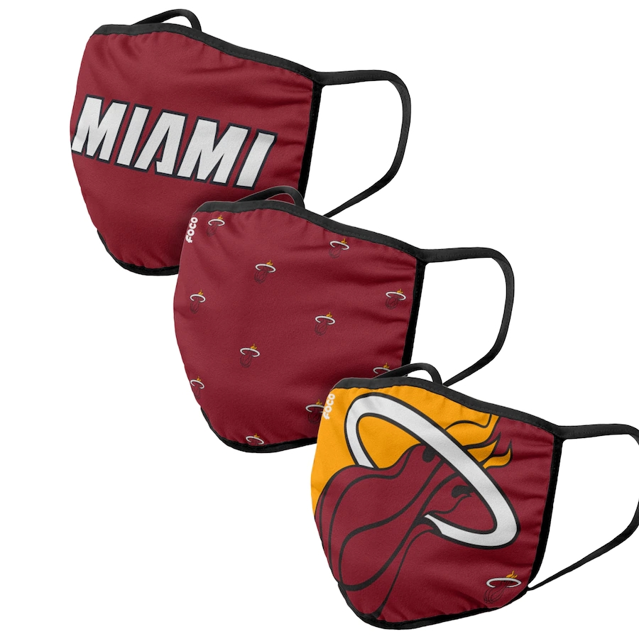 Adult Miami Heat 3Pack Dust mask with filter