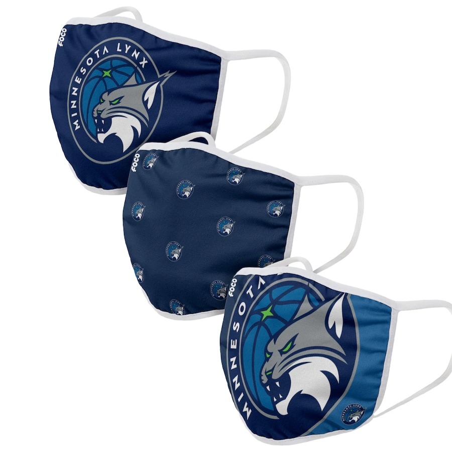 Adult Minnesota Lynx 3Pack Dust mask with filter