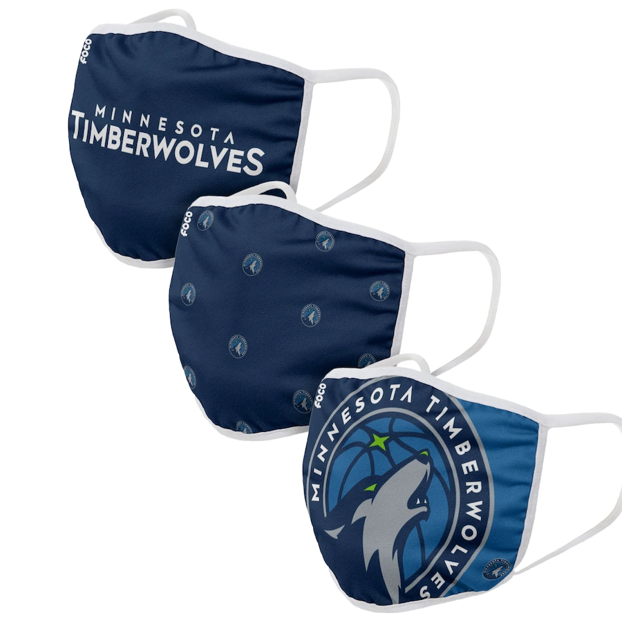 Adult Minnesota Timberwolves 3Pack Dust mask with filter
