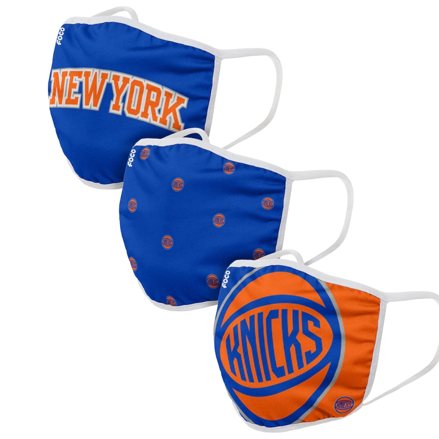 Adult New York Knicks 3Pack Dust mask with filter