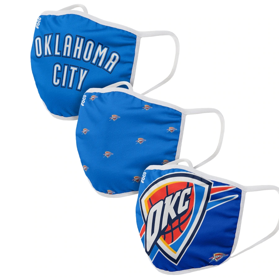 Adult Oklahoma City Thunder 3Pack Dust mask with filter