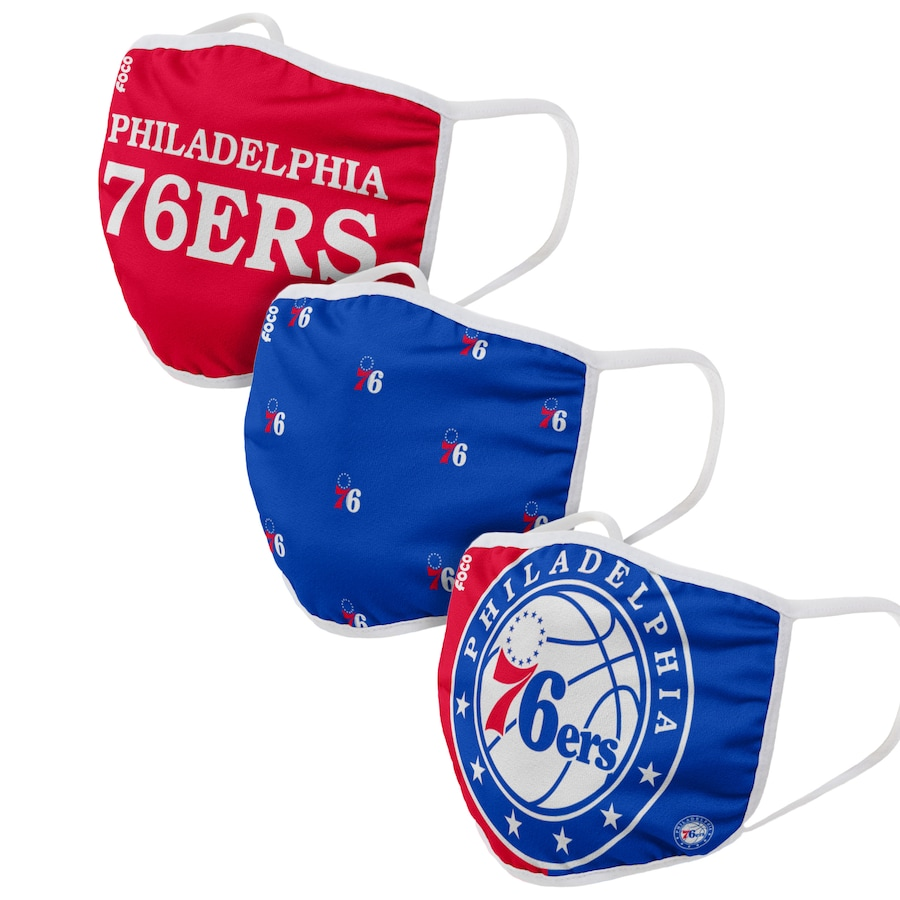 Adult Philadelphia 76ers 3Pack Dust mask with filter