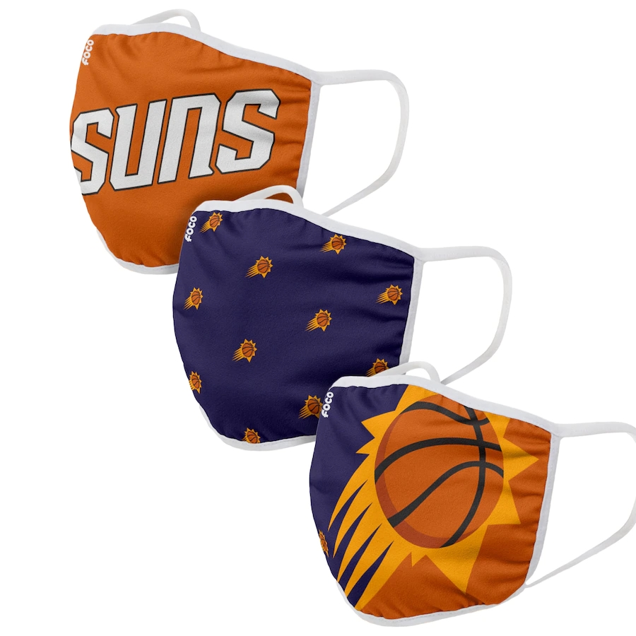 Adult Phoenix Suns 3Pack Dust mask with filter