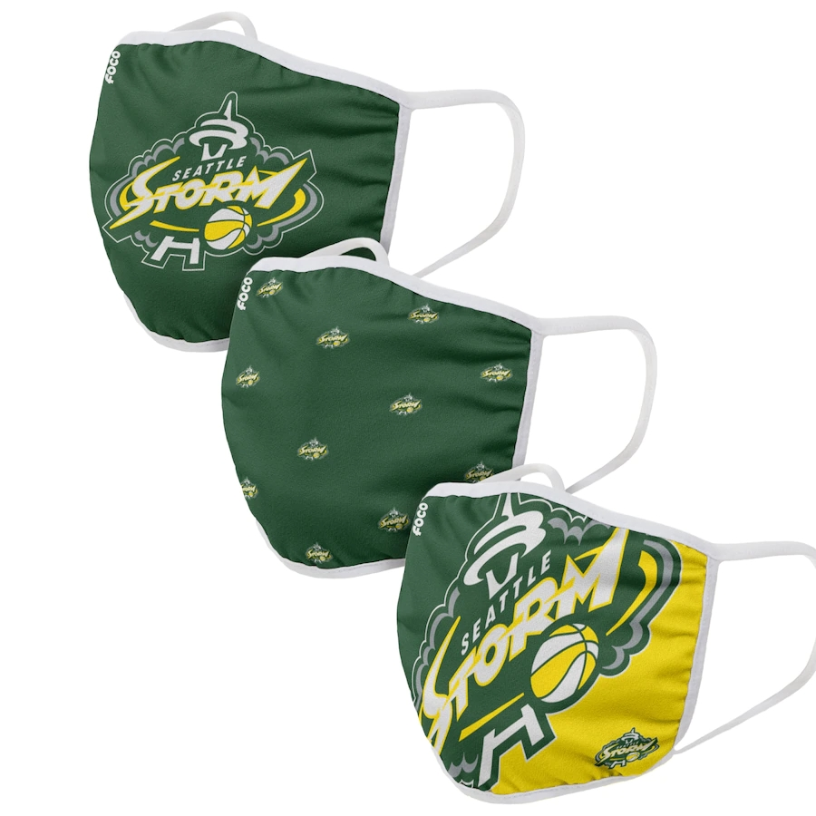Adult Seattle Storm 3Pack Dust mask with filter