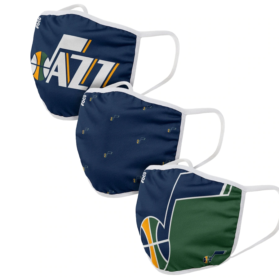 Adult Utah Jazz 3Pack Dust mask with filter
