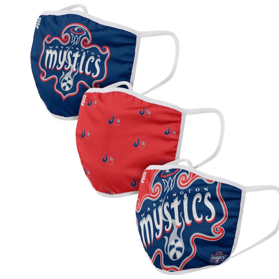 Adult Washington Mystics 3Pack Dust mask with filter
