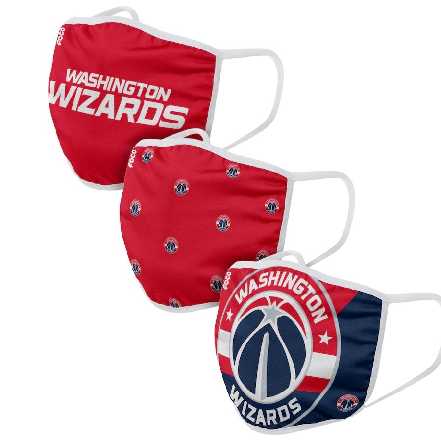 Adult Washington Wizards 3Pack Dust mask with filter