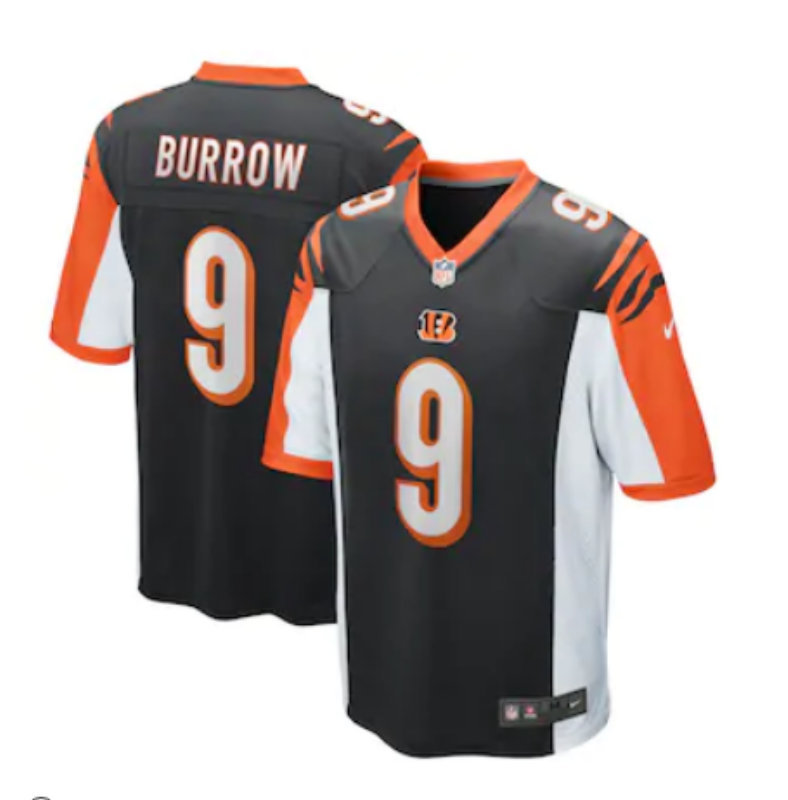 Cincinnati Bengals Limited Men 9 Burrow black Jersey NFL Football Vapor Untouchable