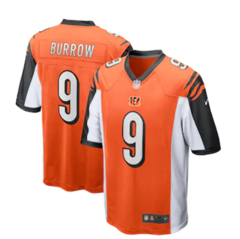 Cincinnati Bengals Limited Men 9 Burrow orange Jersey NFL Football Vapor Untouchable