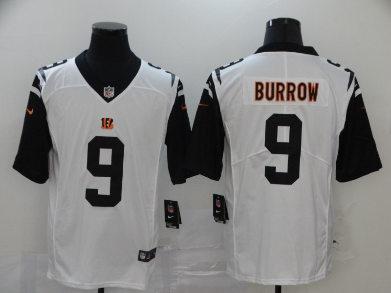 Cincinnati Bengals Limited white Men burrow Jersey NFL Footballl 9 Vapor Untouchable
