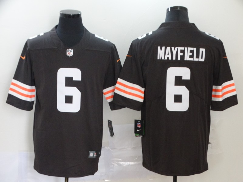 Cleveland Browns Mayfield Men brown Limited Jersey 6 NFL Football Road Vapor Untouchable