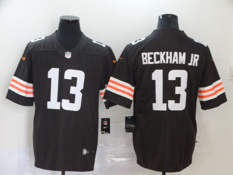 Cleveland Browns Odell Beckham Jr Men brown Limited Jersey 13 NFL Football Road Vapor Untouchable