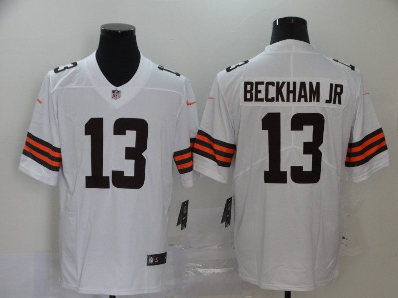 Cleveland Browns Odell Beckham Jr Men white Limited Jersey 13 NFL Football Road Vapor Untouchable