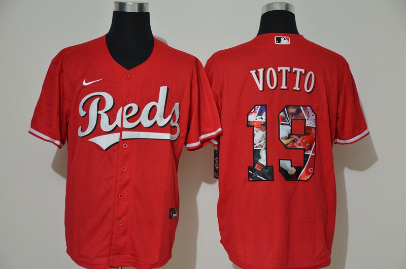 MLB Men Cincinnati Reds 19 Joey Votto Nike red Home 2020 Authentic Player Jersey