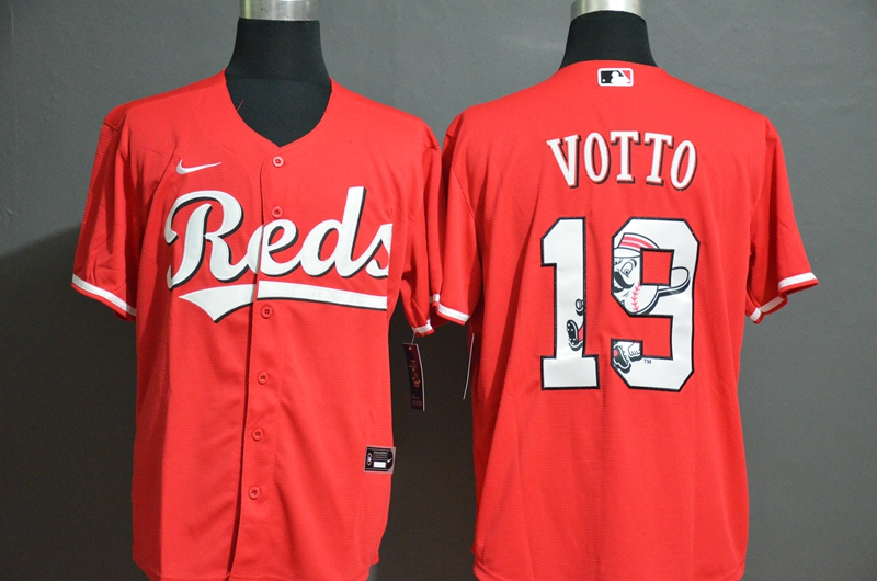 MLB Men Cincinnati Reds 19 Joey Votto Nike red Home 2020 Jersey