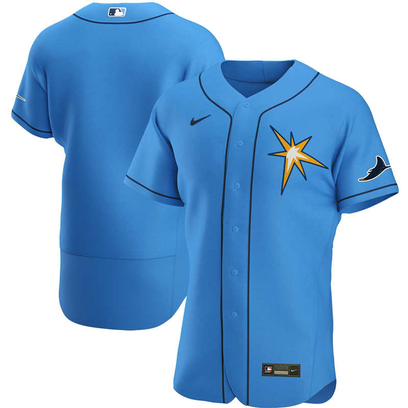 MLB Men Tampa Bay Rays Nike Light Blue Alternate 2020 Authentic Team Jersey