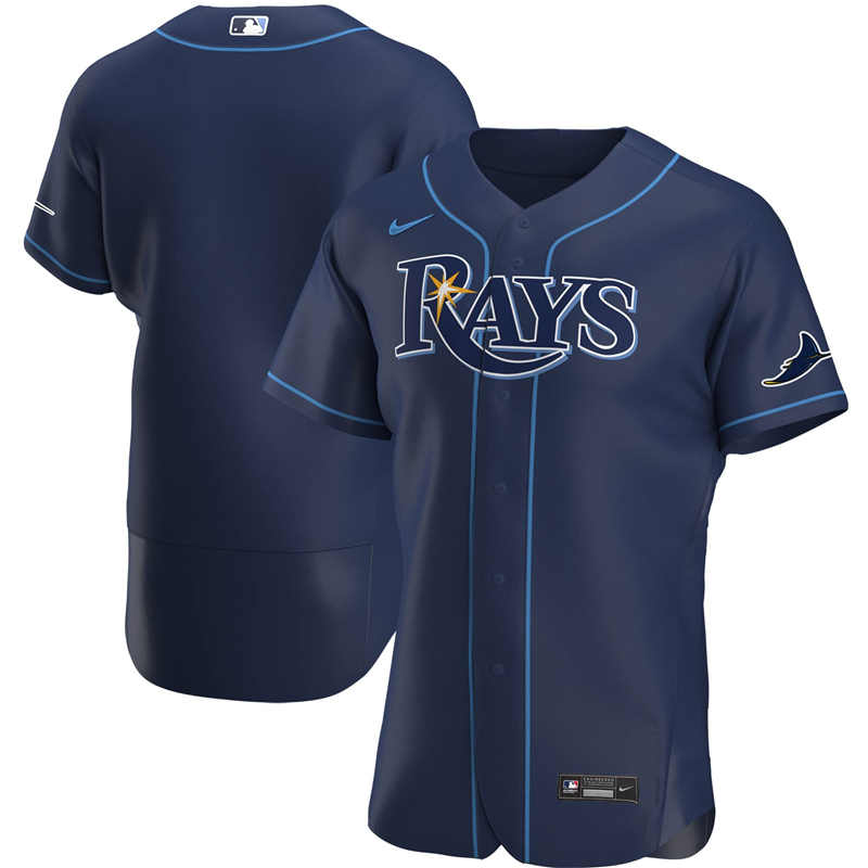 MLB Men Tampa Bay Rays Nike Navy Alternate 2020 Authentic Official Team Jersey