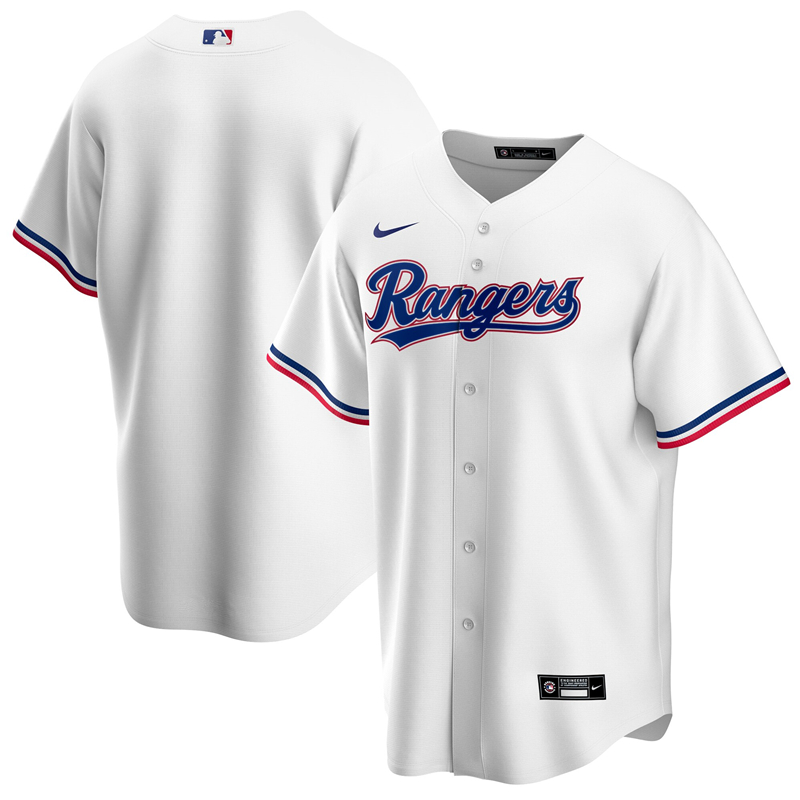 MLB Men Texas Rangers Nike White Home 2020 Replica Team Jersey
