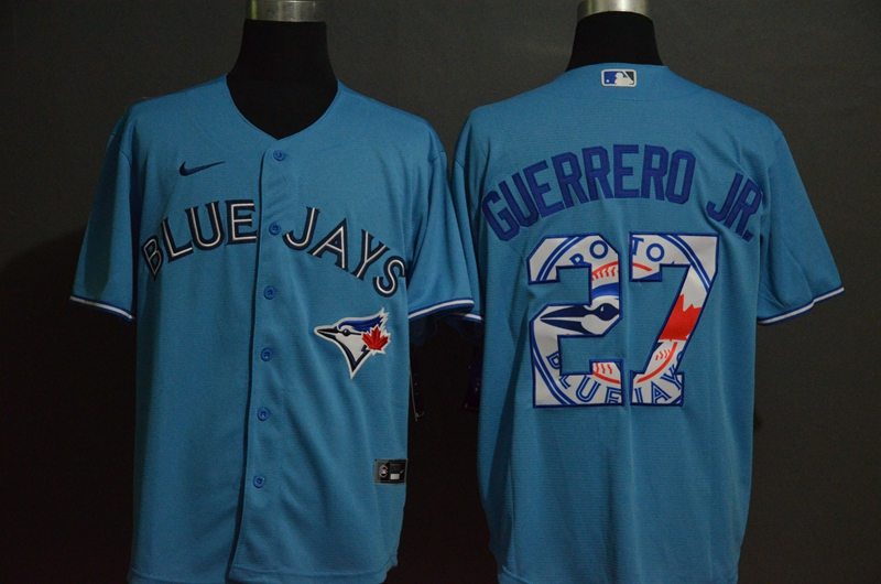 MLB Men Toronto Blue Jays 27 Vladimir Guerrero Jr. Nike Gray 2020 Authentic Player Jersey