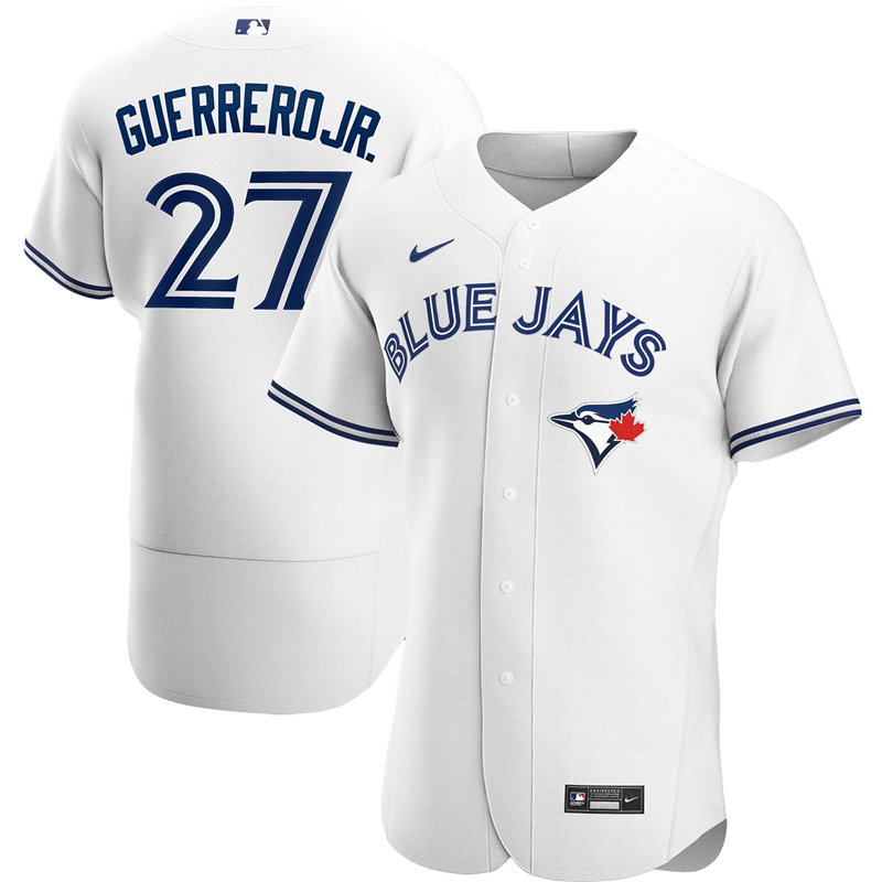 MLB Men Toronto Blue Jays 27 Vladimir Guerrero Jr. Nike White Home 2020 Authentic Player Jersey