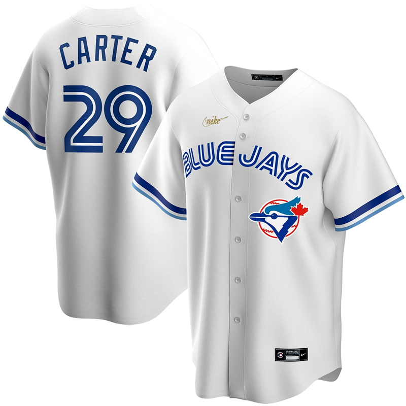 MLB Men Toronto Blue Jays 29 Joe Carter Nike White Home Cooperstown Collection Player Jersey