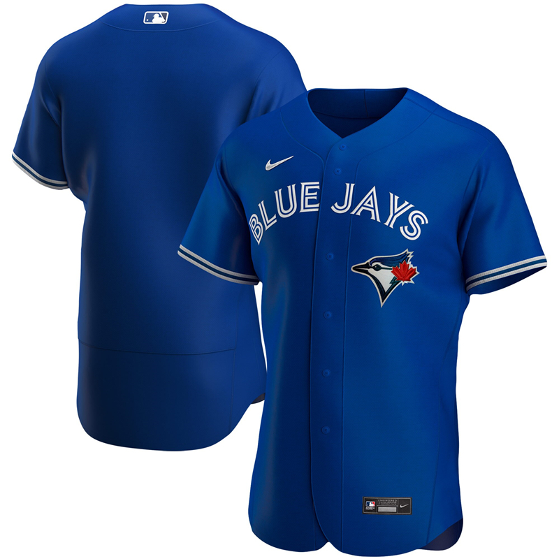 MLB Men Toronto Blue Jays Nike Royal Alternate 2020 Authentic Jersey