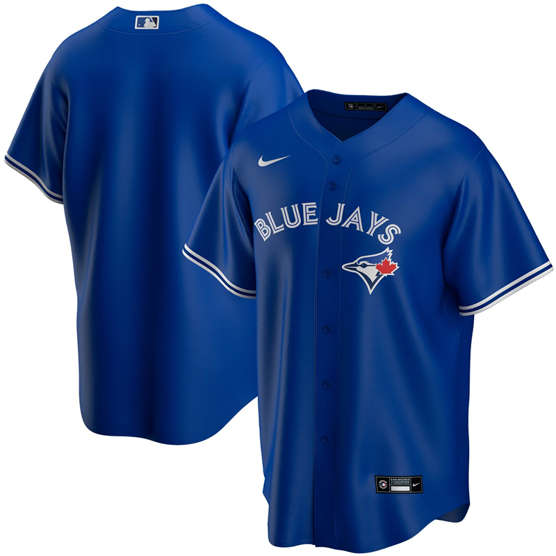 MLB Men Toronto Blue Jays Nike Royal Alternate 2020 Replica Team Jersey