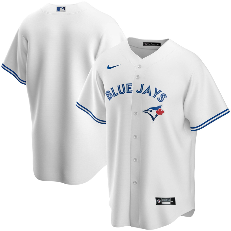 MLB Men Toronto Blue Jays Nike White Home 2020 Replica Team Jersey