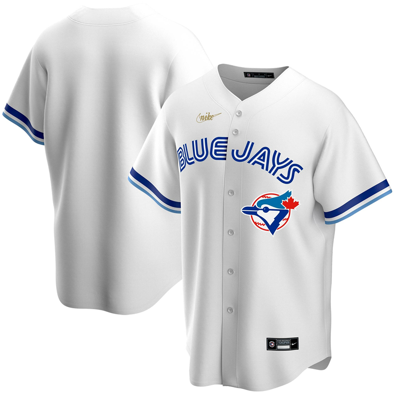 MLB Men Toronto Blue Jays Nike White Home Cooperstown Collection Team Jersey