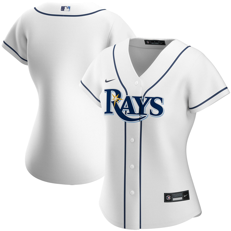MLB Women Tampa Bay Rays Nike White Home 2020 Replica Team Jersey