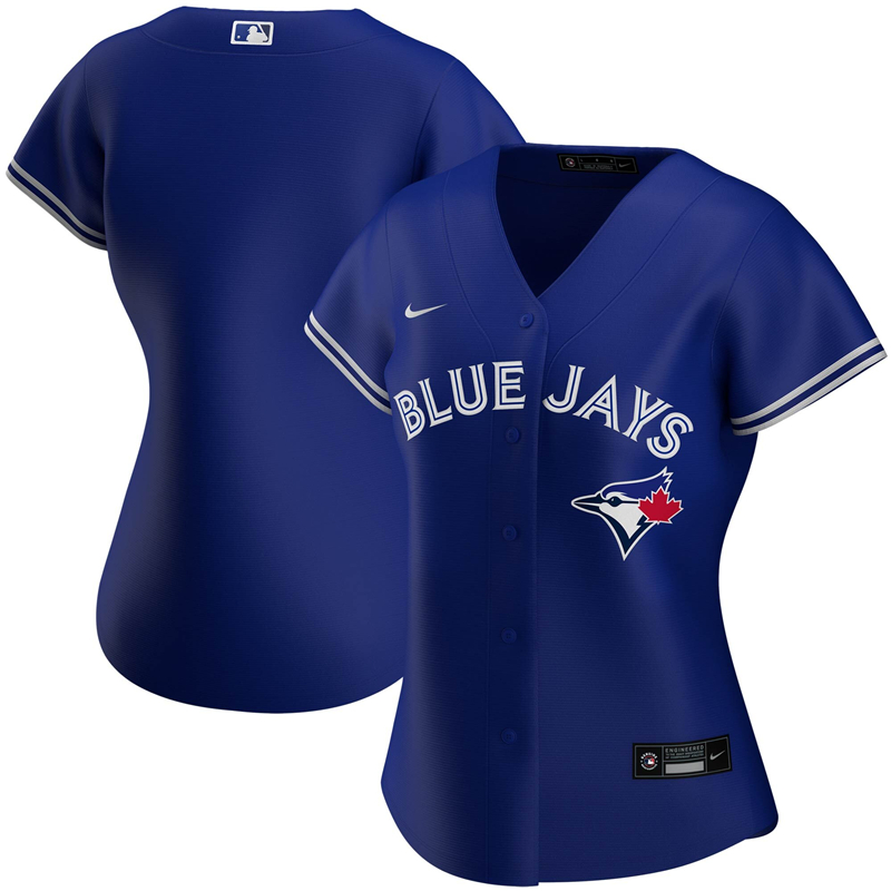 MLB Women Toronto Blue Jays Nike Royal Alternate 2020 Replica Team Jersey