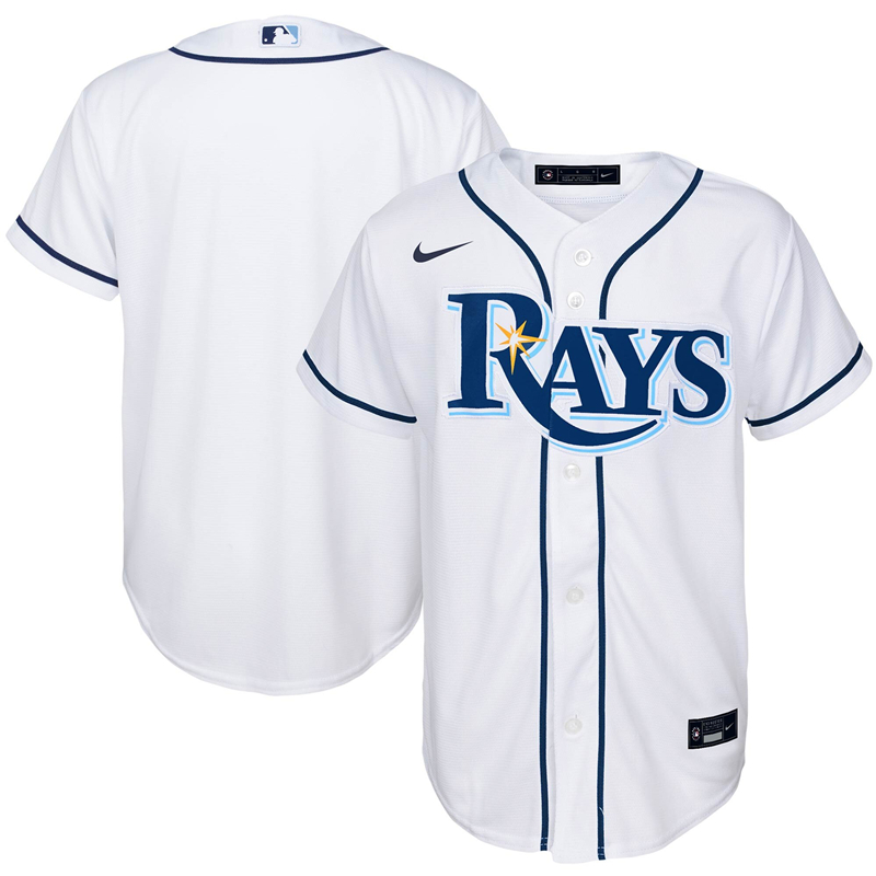 MLB Youth Tampa Bay Rays Nike White Home 2020 Replica Team Jersey