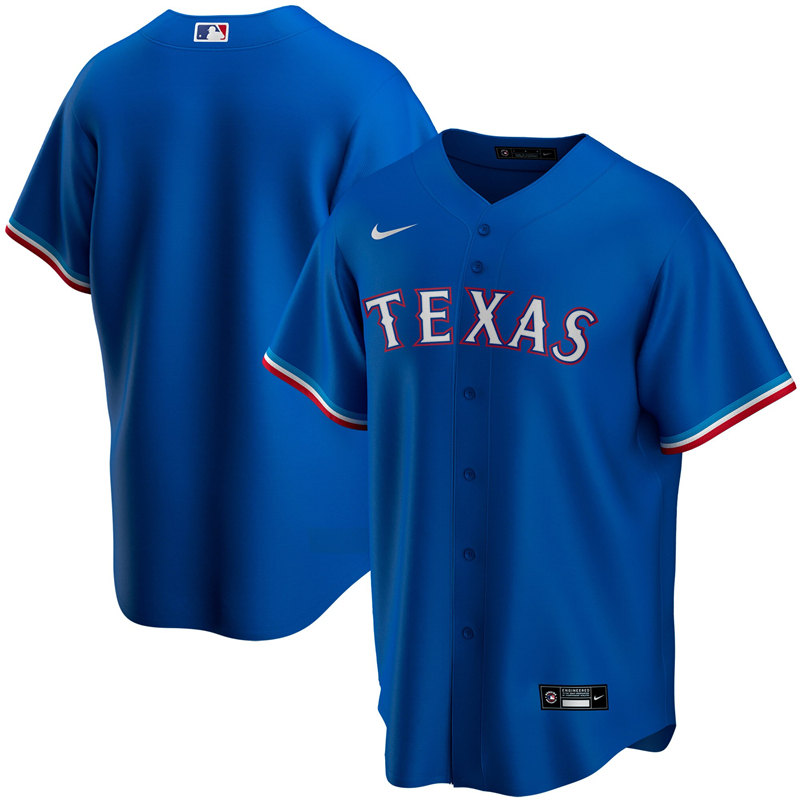 MLB Youth Texas Rangers Nike Royal Alternate 2020 Replica Team Jersey