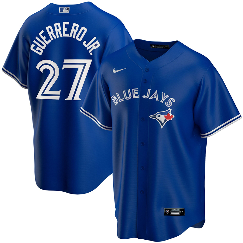 MLB Youth Toronto Blue Jays 27 Vladimir Guerrero Jr. Nike Royal Alternate 2020 Replica Player Jersey